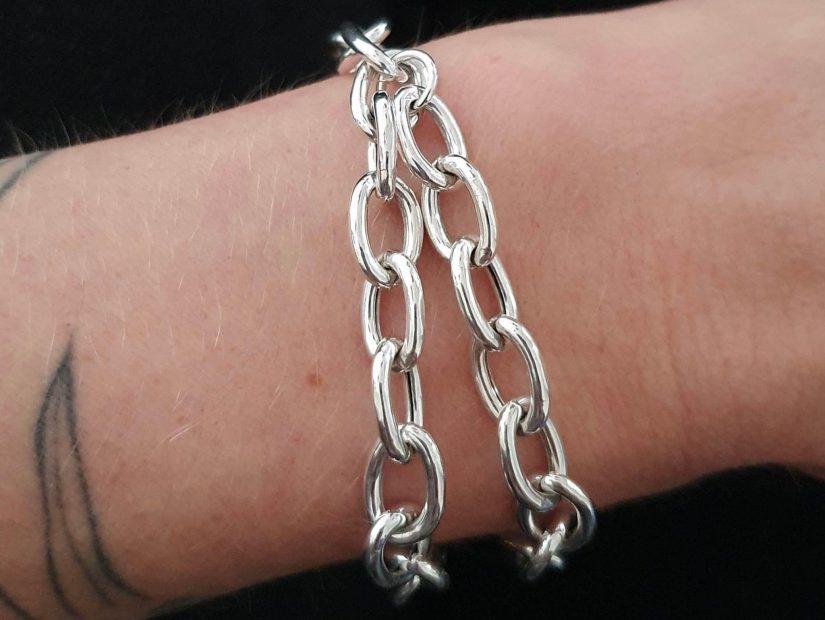 ANTELOPE Bijoux Rock Argent Sterling recycle Ethique bracelet chaine Bold Collection XL copie 2