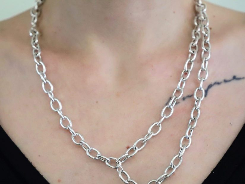 ANTELOPE Bijoux Rock Argent Sterling recycle Ethique collier chaine Collection XL 1_Fotor