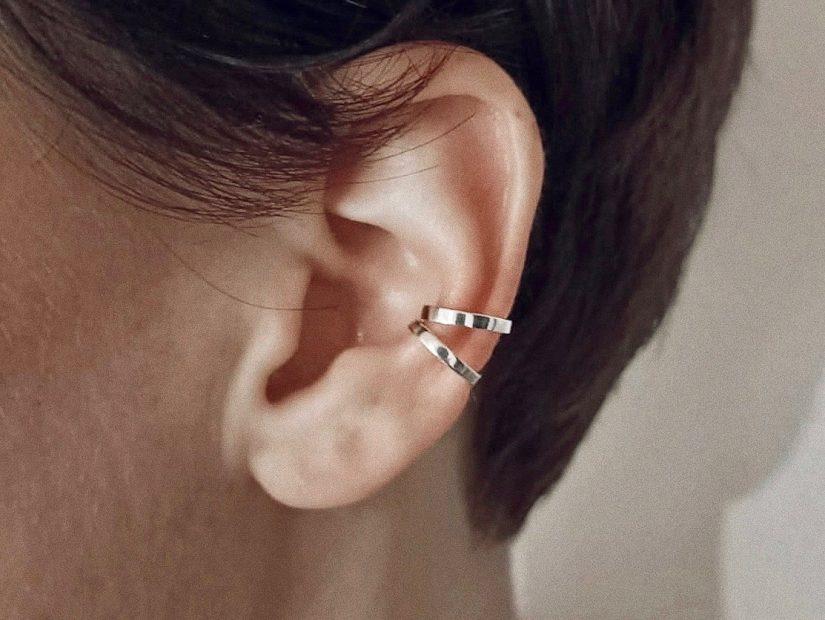 Antelope Bijoux Rock Argent Sterling Ear cuff Fetiche boucles d'oreilles 2