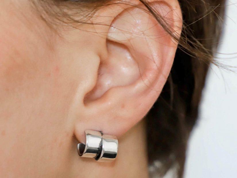 Antelope Bijoux Rock Ethique Eco responsable Argent sterling recycle Boucles d'oreilles Cuff 7