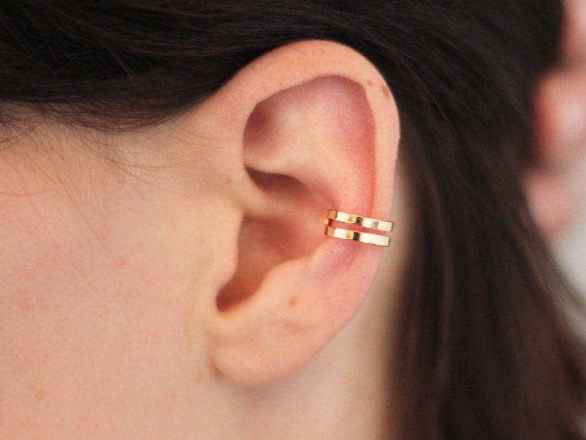 Antelope Bijoux Rock Or Plaque 18 carats Ear Cuff Boucles d'oreilles Ephemere 3
