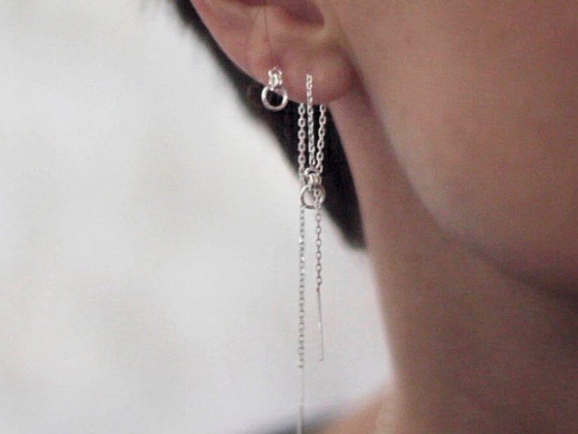 Antelope shop bijoux rock argent sterling Boucles d'oreilles chaine Addictive Collection Overdose